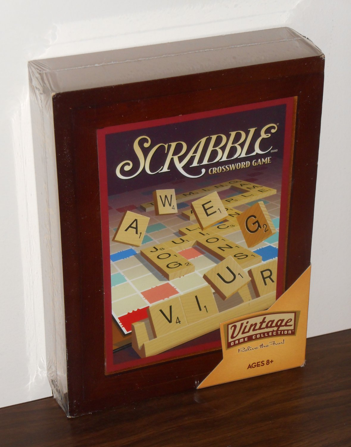 Scrabble Crossword Vintage Game Collection 01336 Wooden Box New Factory Sealed 2009