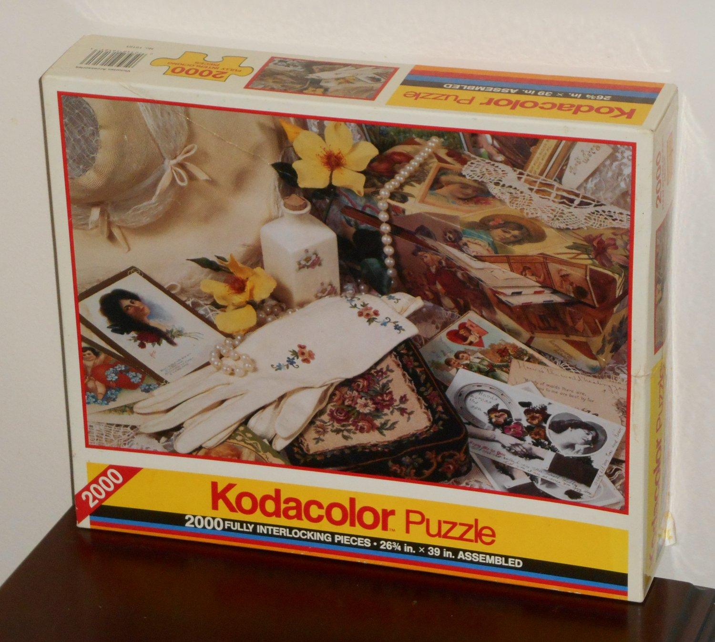 Victorian Accessories 2000 Piece Jigsaw Puzzle Kodacolor 16161 NIB 1992 RoseArt