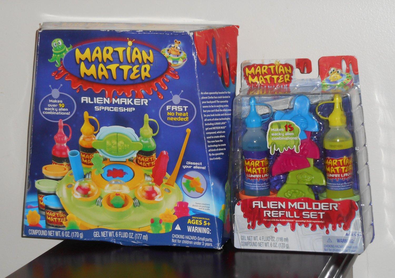 Martian Matter Alien Maker Spaceship Hasbro 20574 + Lunar Lava Molder Refill Set 20576
