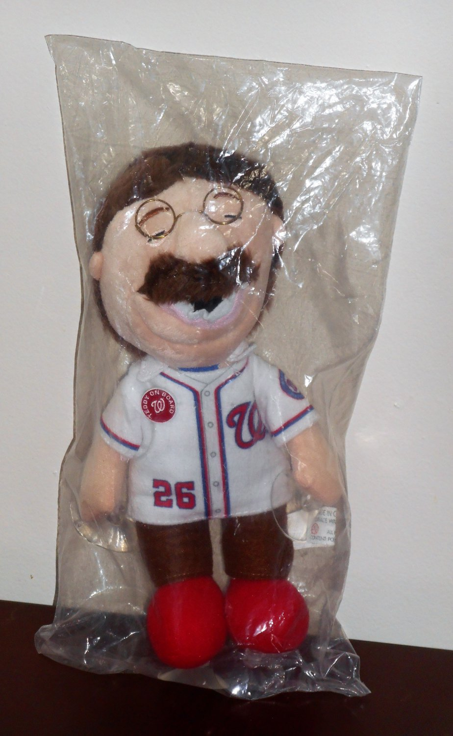 Theodore Roosevelt Plush Doll Teddy on Board Suction Cup Washington Nationals Racing Presidents NIP