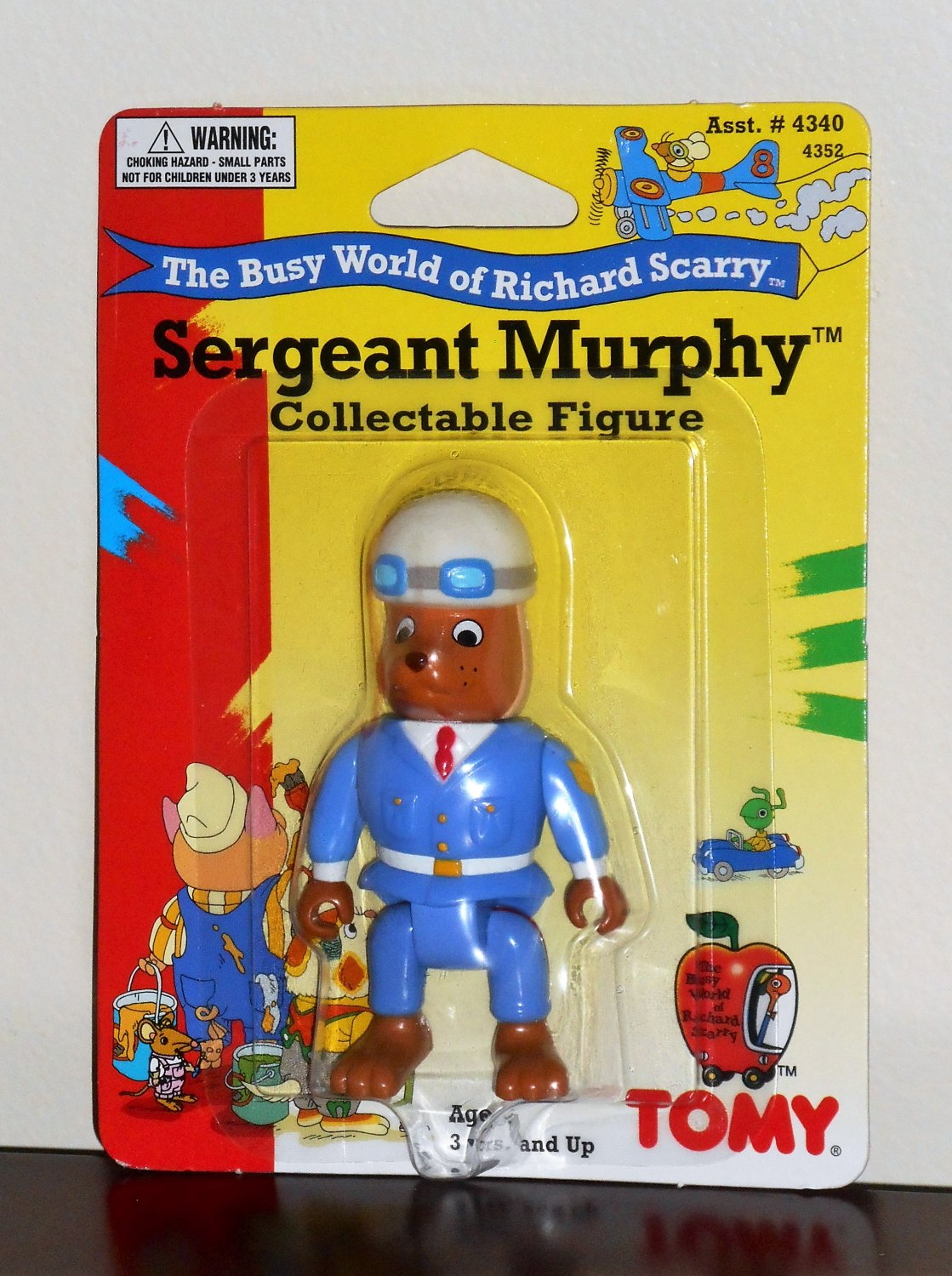 Sergeant Murphy Collectible Figure Tomy 4352 Busy World of Richard Scarry 1995 NIP Posable Arms Legs