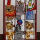 Murdock & Ross Plush Finger Puppet Set in Box Circus Animals Duck Giraffe Elephant Seal Bear 2006