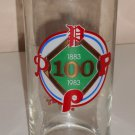 Philadelphia Phillies Drinking Glass Tumbler Roy Rogers Promo 1883-1983 100 Years Libbey