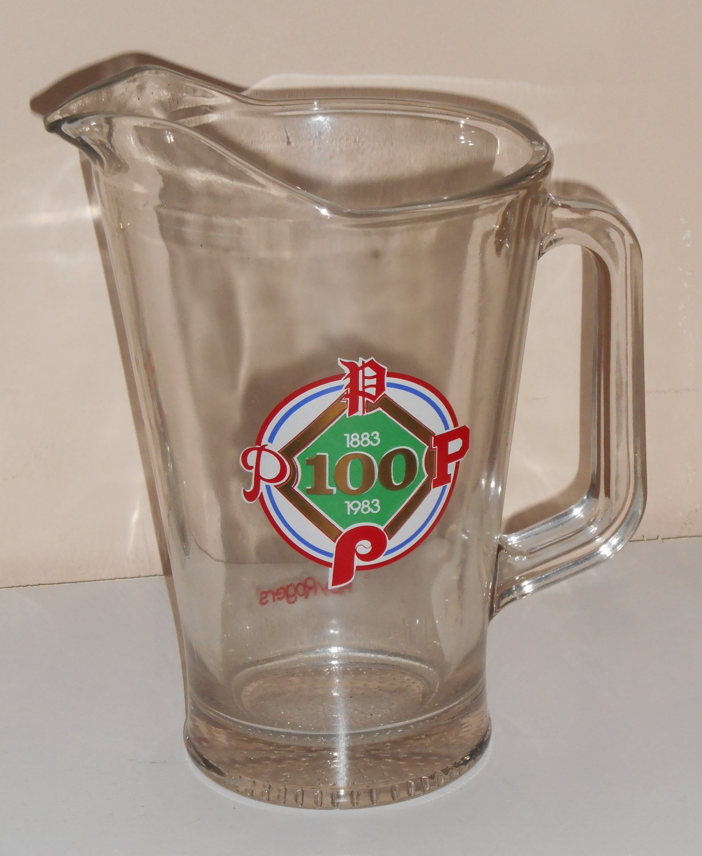 Philadelphia Phillies Glass Beer Beverage Pitcher Roy Rogers Promo 1883-1983 100 Years Libbey