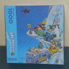 Ski Fever 1000 Piece Jigsaw Puzzle Springbok PZL6160 Cartoon Art Gary Patterson Complete