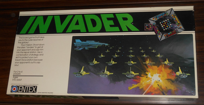 Vintage 1982 Invader Board Game Entex Industries 2006