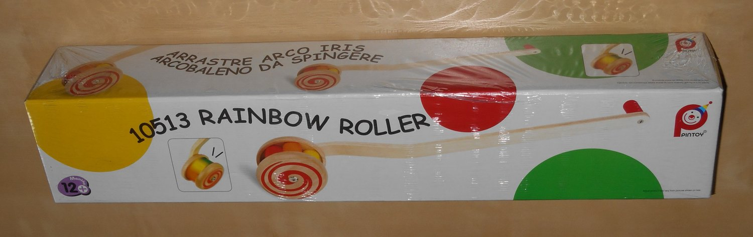 Rainbow Roller Classic Wooden Toddler Toy 10513 Made By Pintoy NIB