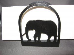 Elephant  Wooden Napkin or letter holder