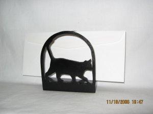 Cat Kitten Walking Wood Napkin Holder or Lettter Holder