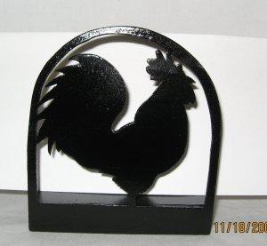 Rooster chicken napkin or letter holder