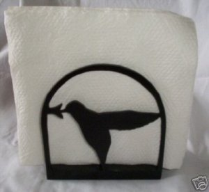 Hummingbird wood letter holder or napkin holder