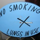 No Smoking Lungs in Use Wood Sign