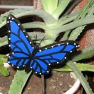 Blue Butterfly Wood Plant Poke
