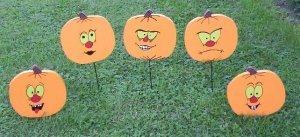 Halloween Pumpkins Yard Art larger size
