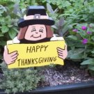 Happy Thanksgiving Pilgrim Wooden sign
