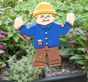 Scarecrow Wooden Garden sign