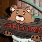 Bear welcome garden sign