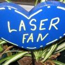 Kettle Moraine Laser Fan Heart shaped Wood Garden Sign