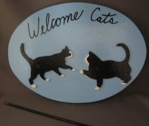 Welcome Cats kittens Sign