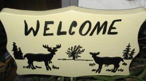 Welcome Deer Sign