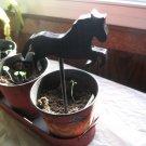 Prancing Horse wood  Plant Poke