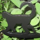 Monkey Wood Plant Poke Silhouette black