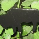 Buffalo Wood Plant Poke Silhouette black