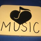 Music door  Sign pine wood handpainted