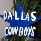 Dallas Cowboys wood garden sign