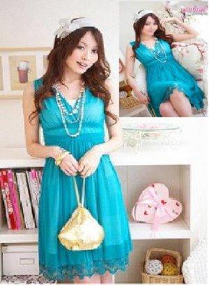Romantic Chiffon dress w inner tube Size S/M