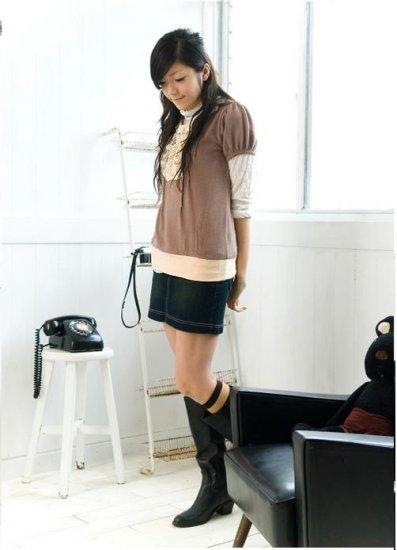 A2961 Sweet Princess slim fit blouse-Plus size