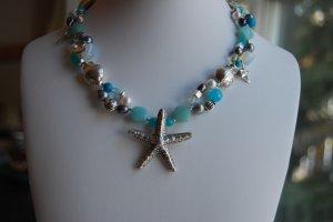 Sea necklace- March birthstone