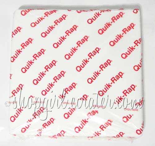 "Quik-Rap 14"" x 14"" 1000-Ct. Plain White Sandwich Wrap Paper by Dixie"