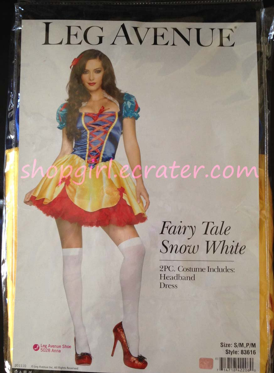 Fairy Tale Snow White Adult Women's Halloween Costume Size S/M