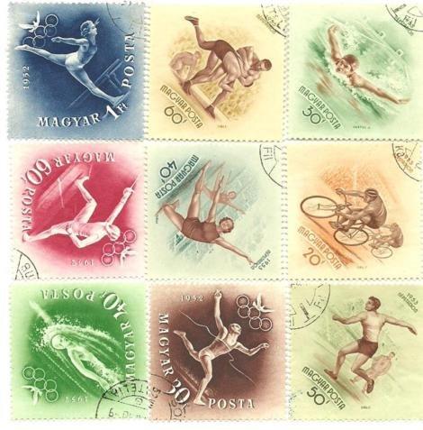 1952 Hungarian olmpics Stamps & 1953