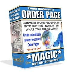 ORDER PAGE MAGIC SOFTWARE -- MAKES SALE ORDER PAGES THAT PULL IN MORE SALES, + SPECIAL BONUS