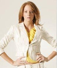 L.A.M.B LAMB Gwen Stefani Rasta Stripe Gatsby Blazer Jacket