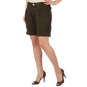 L.A.M.B LAMB Gwen Stefani Brown Corduroy Swiss Short 0