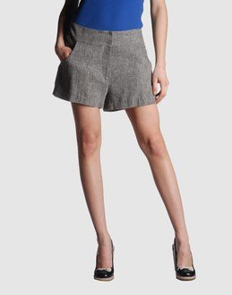Anthropologie MANOUSH Gray Flannel Bow Button Shorts M