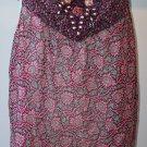 $460 ANNA SUI Silk Jewel Flower Purple Tie Top Cami 6
