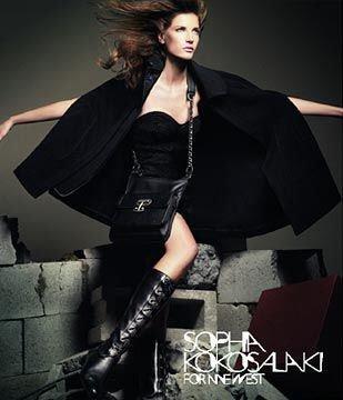 $495 Sophia Kokosalaki Black Wool Cashmere Cape Coat L