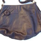 New ELYSIAN PARK Brown Leather Rose Purse Anthropologie