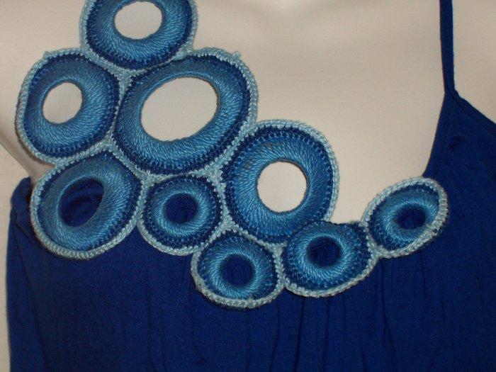 IODICE Brazil Jersey Crochet Summer Dress Kitson $270 S