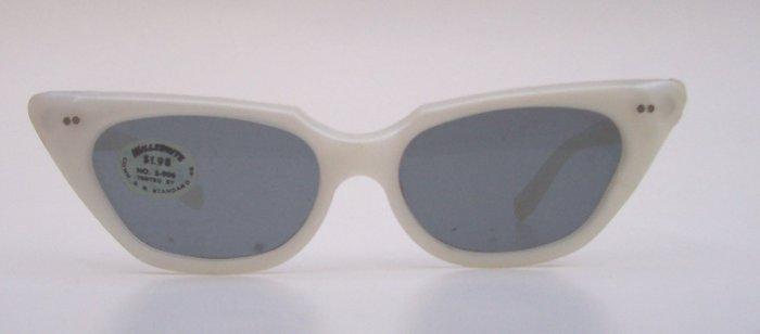 WILLSONITE Retro Vintage Pearl Cat Eye Sunglasses Rare