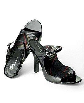 VIVIENNE WESTWOOD Nine West Black Patent Mule Heel * 9