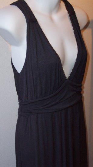 """ELLA MOSS """"Melody"""" Bead Trim Empire V Neck Knit Dress L"""