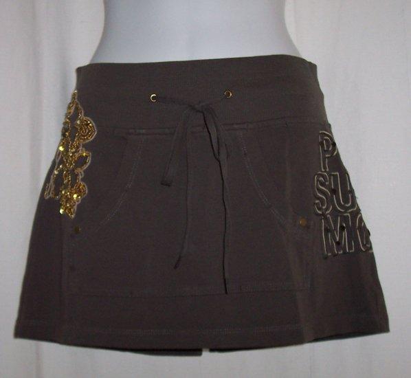 PINKO SUNDAY MORNING Beaded Drawstring Mini Skirt S $150