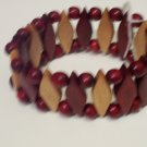 Brazilian Wood Bead Diamond Shaped Bracelet
