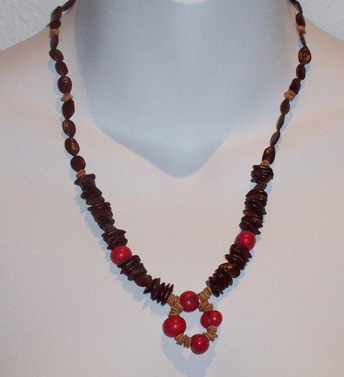 Brazilian Wood Bead Seed Boho Hand Crafted Choker Necklace