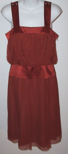 LAUNDRY Shelli Segal Silk Chiffon Grecian Flowy Dress 4